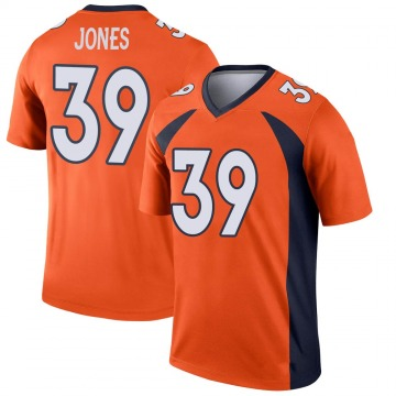 Men's Cyrus Jones Denver Broncos Legend Orange Jersey