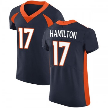 Men's DaeSean Hamilton Denver Broncos Elite Navy Alternate Vapor Untouchable Jersey