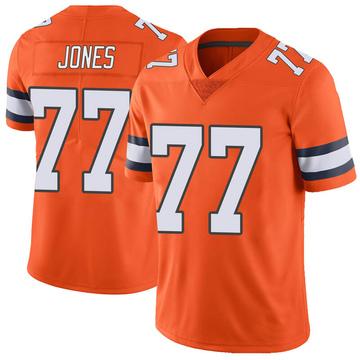 Men's Sam Jones Denver Broncos Limited Orange Color Rush Vapor Untouchable Jersey