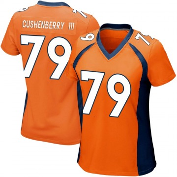 Women's Lloyd Cushenberry III Denver Broncos Game Orange Team Color Jersey