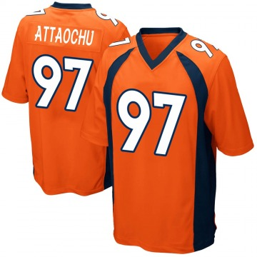 Youth Jeremiah Attaochu Denver Broncos Game Orange Team Color Jersey