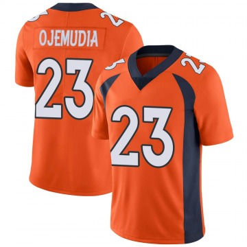 Youth Michael Ojemudia Denver Broncos Limited Orange Team Color Vapor Untouchable Jersey