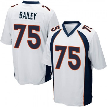 Youth Quinn Bailey Denver Broncos Game White Jersey